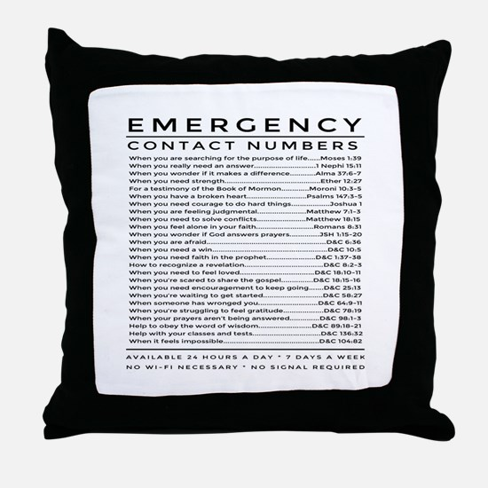 bible emergency number Throw Pillow