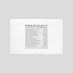 bible emergency number 4' x 6' Rug