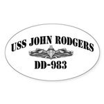 USS JOHN RODGERS Sticker (Oval)