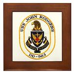 USS JOHN RODGERS Framed Tile