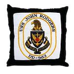 USS JOHN RODGERS Throw Pillow
