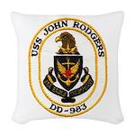 USS JOHN RODGERS Woven Throw Pillow