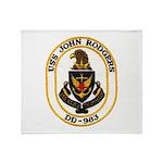 USS JOHN RODGERS Throw Blanket