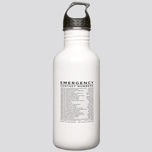 bible emergency number Stainless Water Bottle 1.0L