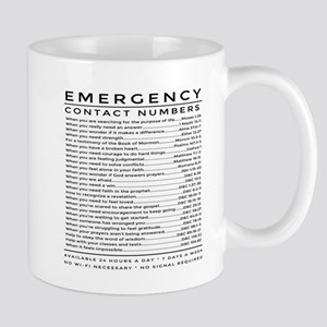 bible emergency number Mugs
