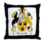 Barwick Family Crest Throw Pillow