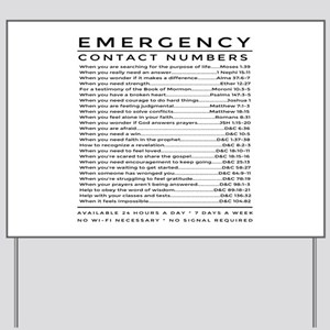 bible emergency number Yard Sign