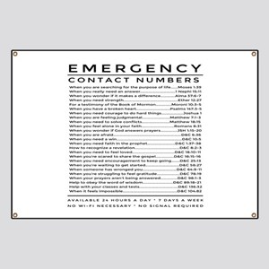 bible emergency number Banner