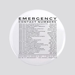 """bible emergency number 3.5"""" Button"""