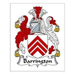 Barrington Family Crest  Small Poster