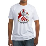 Barrington Family Crest  Fitted T-Shirt