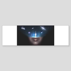 A Universe in the Mind Bumper Sticker