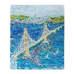Golden Gate San Francisco Throw Blanket