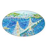 Golden Gate San Francisco Sticker (Oval)