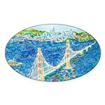 Golden Gate San Francisco Sticker (Oval 50 pk)