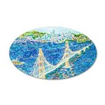 Golden Gate San Francisco 20x12 Oval Wall Decal