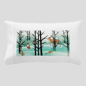 Woodland Critter Winter Pillow Case