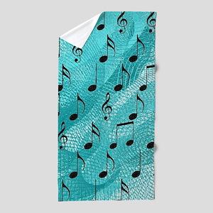 Music notes Beach Towel
