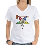 OES Past Worthy Matron Women's V-Neck T-Shirt