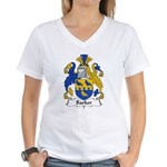 Barker Family Crest Women's V-Neck T-Shirt