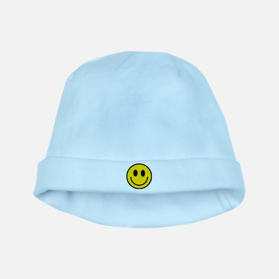 Yellow Smiley Face baby hat