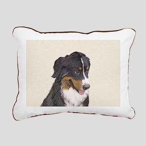 Bernese Mountain Dog Rectangular Canvas Pillow