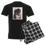 Bernese Mountain Dog Men's Dark Pajamas