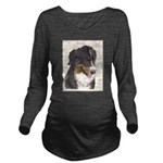 Bernese Mountain Dog Long Sleeve Maternity T-Shirt