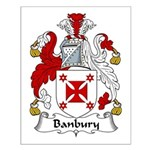Banbury Family Crest  Small Poster