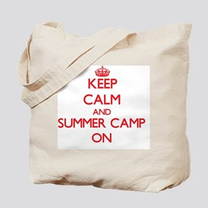 Keep Calm and Summer Camp ON Tote Bag
