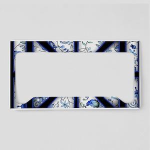 blue square License Plate Holder