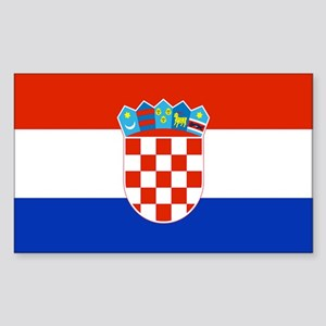 Croatian Flag Rectangle Sticker
