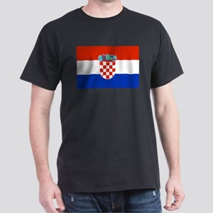 Croatian Flag Dark T-Shirt