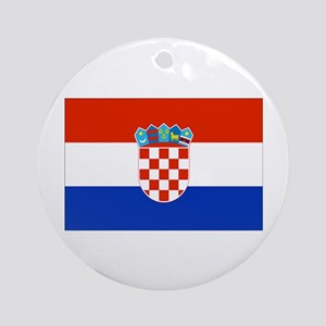 Croatian Flag Ornament (Round)