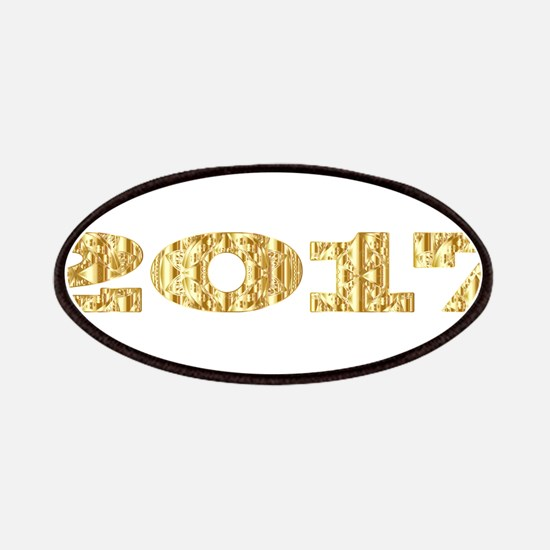 Golden Abstract 2017 Patch