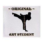 Original Art Student - Taekwondo Throw Blanket
