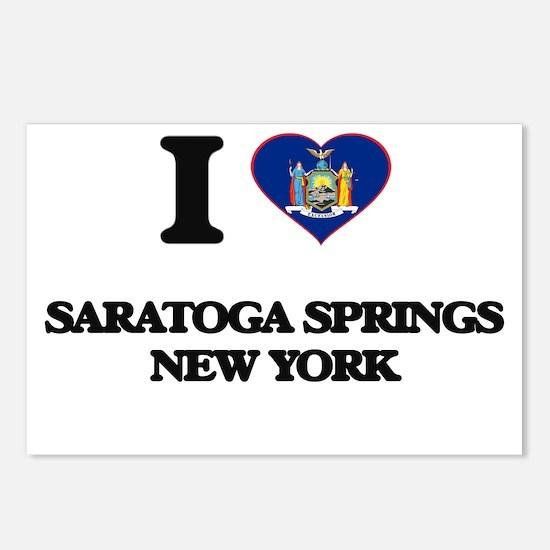 I love Saratoga Springs N Postcards (Package of 8)