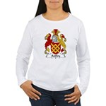 Audley Family Crest  Women's Long Sleeve T-Shirt