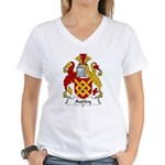 Audley Family Crest  Women's V-Neck T-Shirt