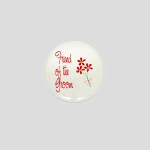 Bouquet Groom's Friend Mini Button