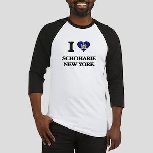I love Schoharie New York Baseball Jersey