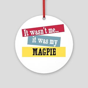 Magpie Ornament (Round)