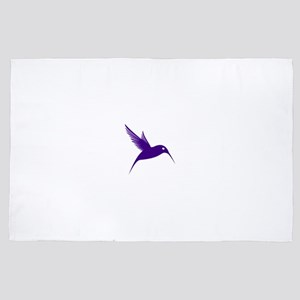 Purple Humming Bird 4' x 6' Rug