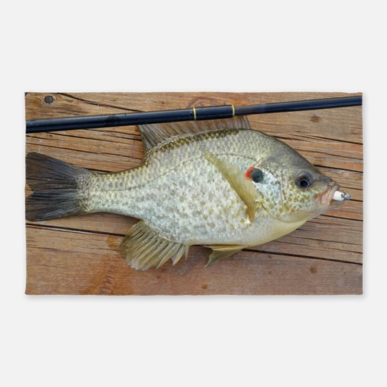 Shell Cracker 2. Red Ear Fish Retro Tuna  Area Rug
