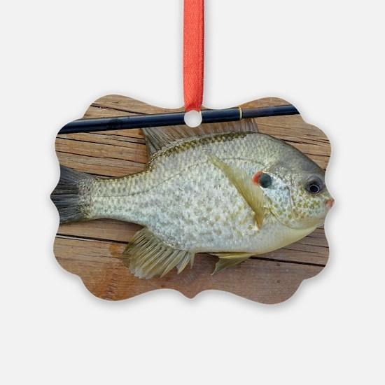 Shell Cracker 2. Red Ear Fish Ret Ornament