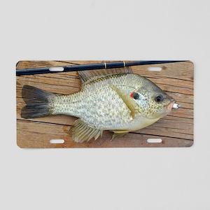 Shell Cracker 2. Red Ear Fi Aluminum License Plate