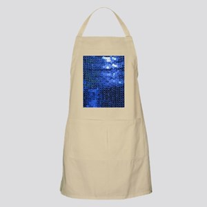 blue sequins Apron
