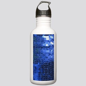 blue sequins Stainless Water Bottle 1.0L