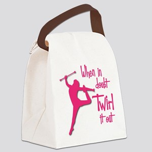 TWIRL IT OUT Canvas Lunch Bag