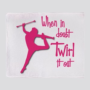 TWIRL IT OUT Throw Blanket